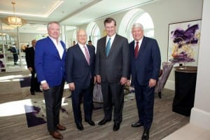 John Goff, Denny Alberts, Dallas Mayor Mike Rawlings, and Tim Smick